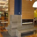 Commercial Concrete Fireplace