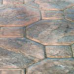 Stamped Concrete Mosaic Patio Pattern