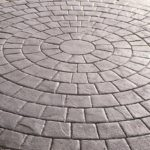 Stamped Concrete Brick Path